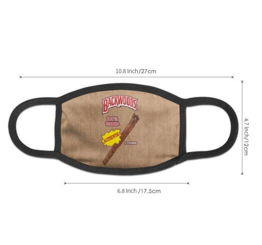 Authentic Backwoods Cigars Full Print Design Face Mask
