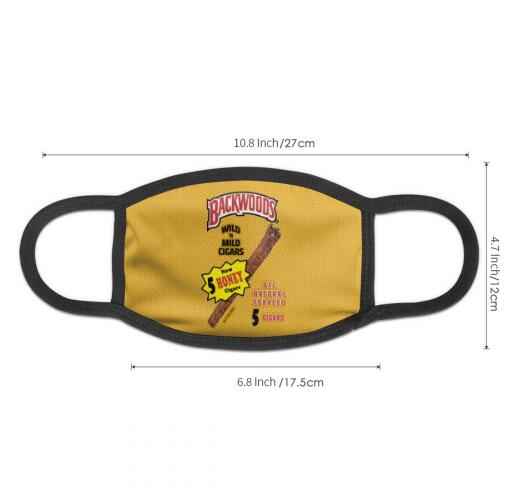 Honey Backwoods Cigars Full Print Design Face Mask