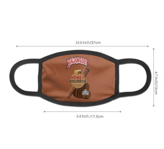 Honey Bourbon Backwoods Cigars Full Print Face Mask