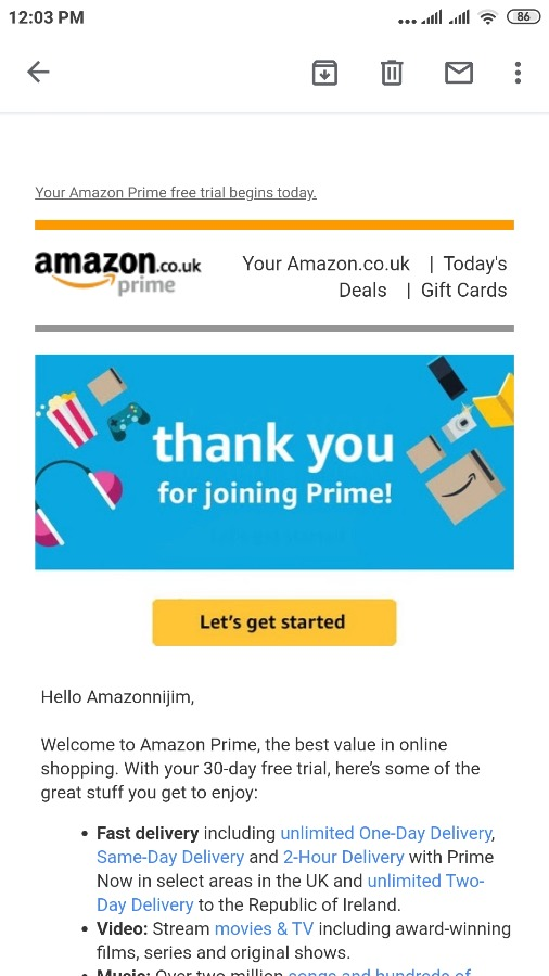 AMAZON PRIME (1 MONTH) GOOD FOR REFUNDING DROPSHIPPING