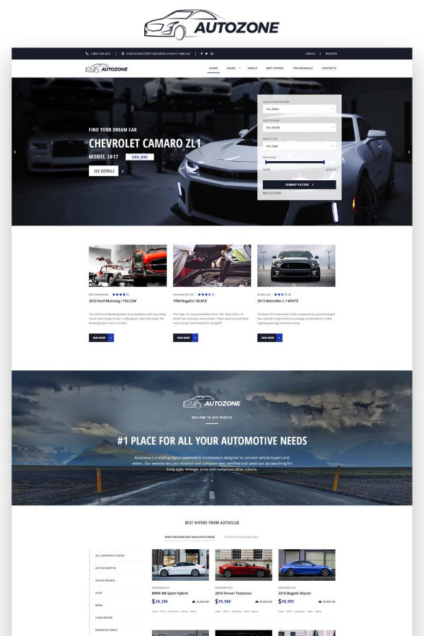 Autozone – WordPress Car Dealer Template