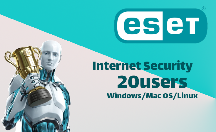 ESET Internet Security 1year (20 users)