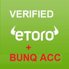 BUNQ + ETORO ACCOUNT SAME NAME EUROPE BUY BTC