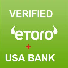 ETORO ACCOUNT USA + STREET BANK SAME NAME TRADE BTC