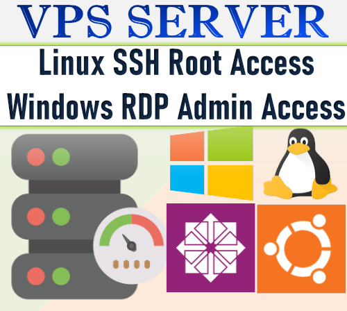 windows vps or linux vps 4GB RAM VPS/RDP, 1 Year $80