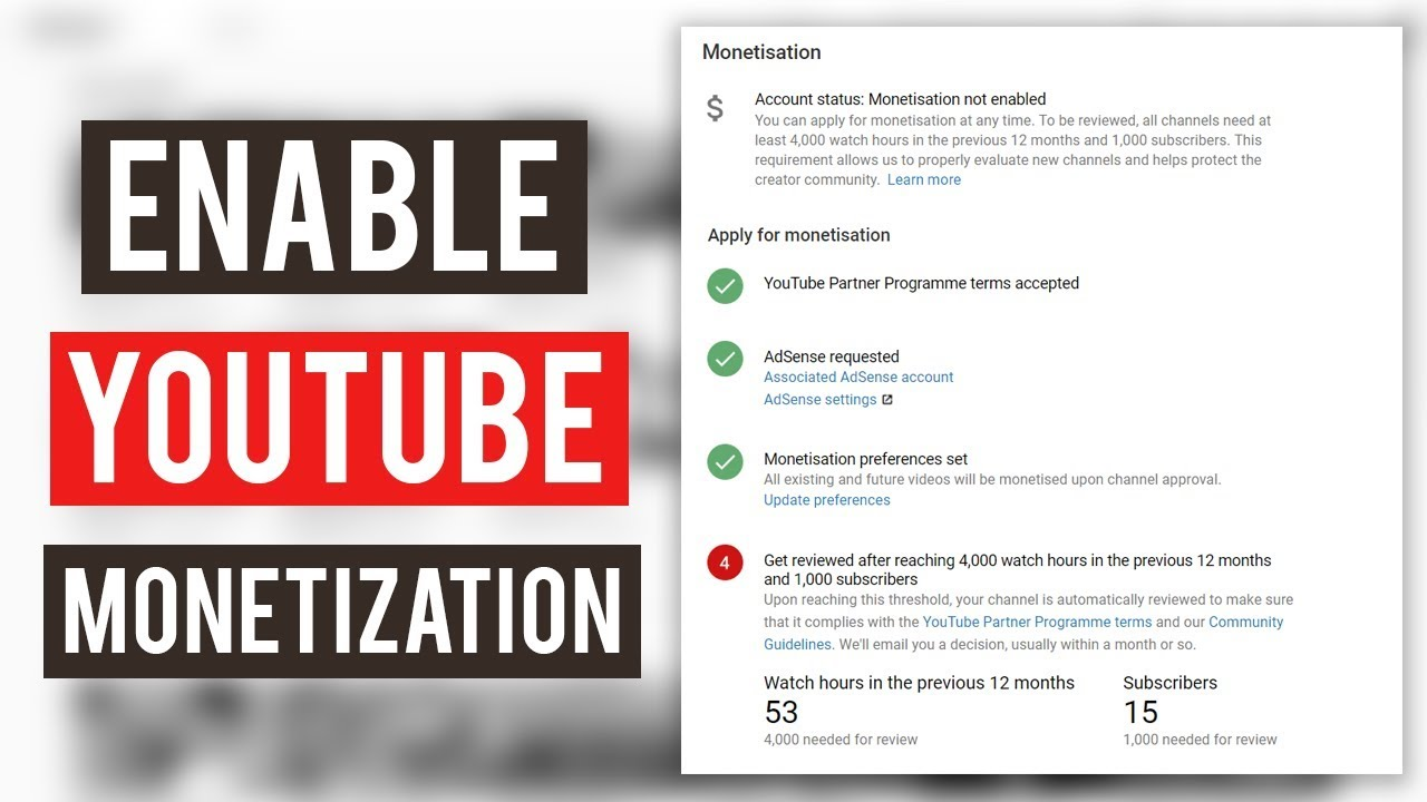 YouTube monitization