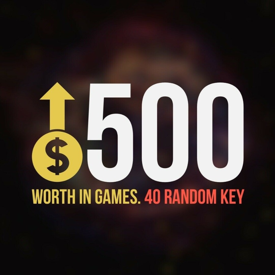 x40 Random Steam Key Premium Games (+$500) Global