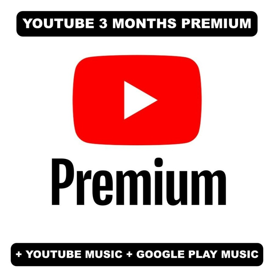 YouTube Premium & YouTube Music 3 Months - New/U...