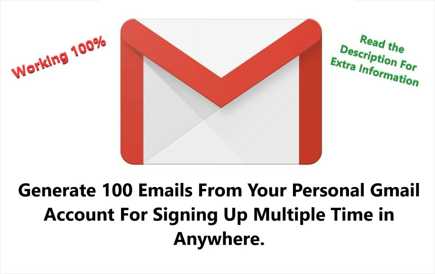 I Generate you 100 E-mails from your main Gmail account