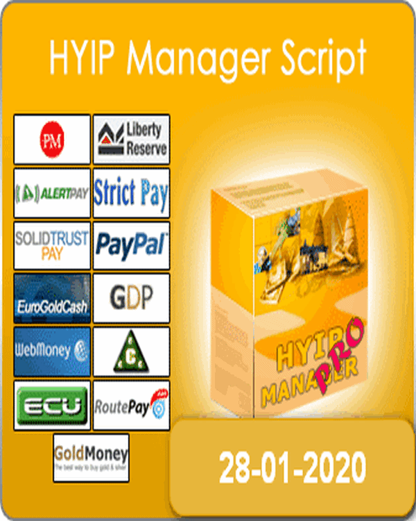 Gc Hyip Manager Pro 2020 Released 28-01-2020 Last updat