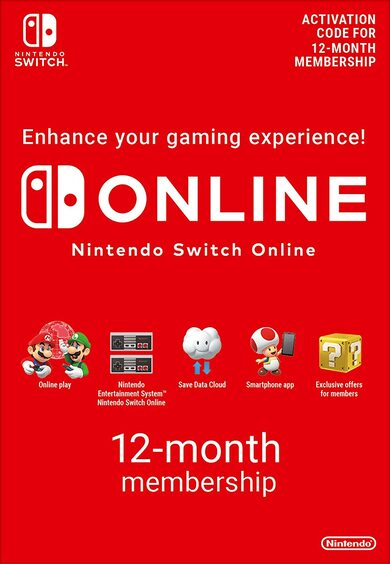 Nintendo Switch Online Membership - 12 Months eShop Key