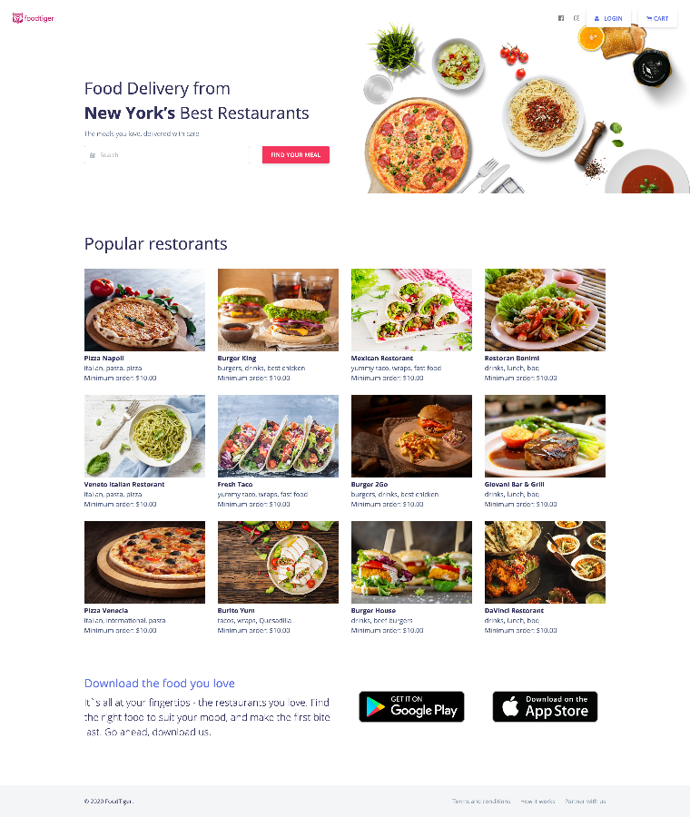 Food delivery - Multiple Restaurants