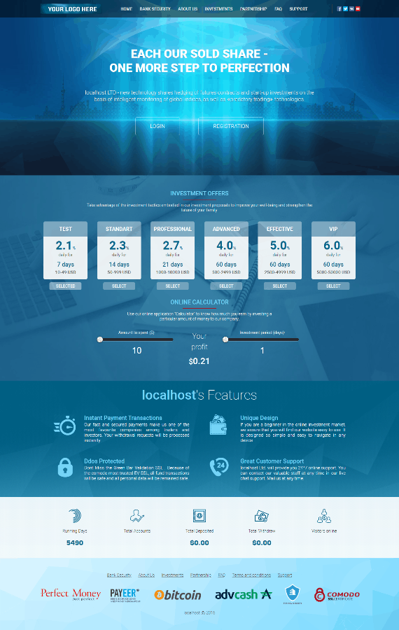 GoldCoders Hyip Template 14