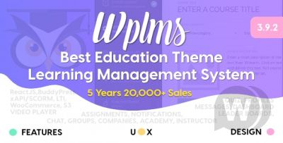 Learning Management Systemfor WordPress,EducationTheme