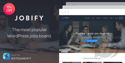 Jobify v3.15.0 - WordPress Template for a Site with Job