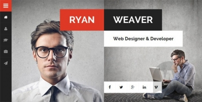 Divergent v3.0 - Personal Vcard Resume WordPress Theme