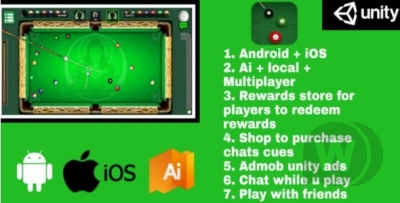 Billiards Multiplayer 8 Ball Pool  Android + IOS