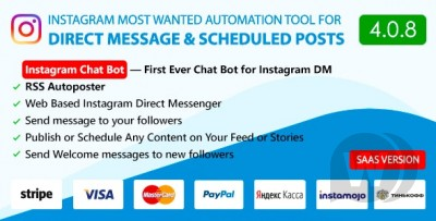 Instagram ChatBot,Web Direct Messenger&Scheduled...