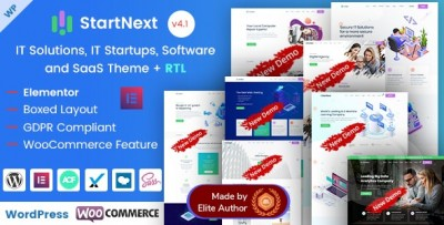 StartNext - IT Startups and Digital Services WordPress