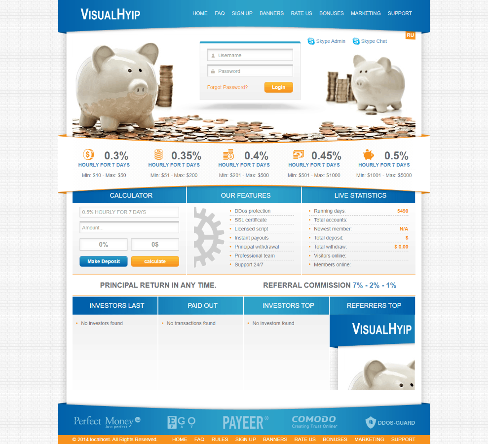 GoldCoders Hyip Template 21