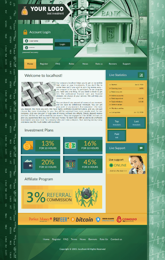 GoldCoders Hyip Template 22