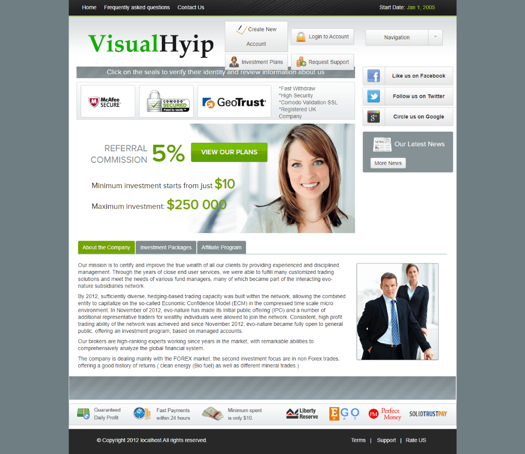 GoldCoders Hyip Template 27