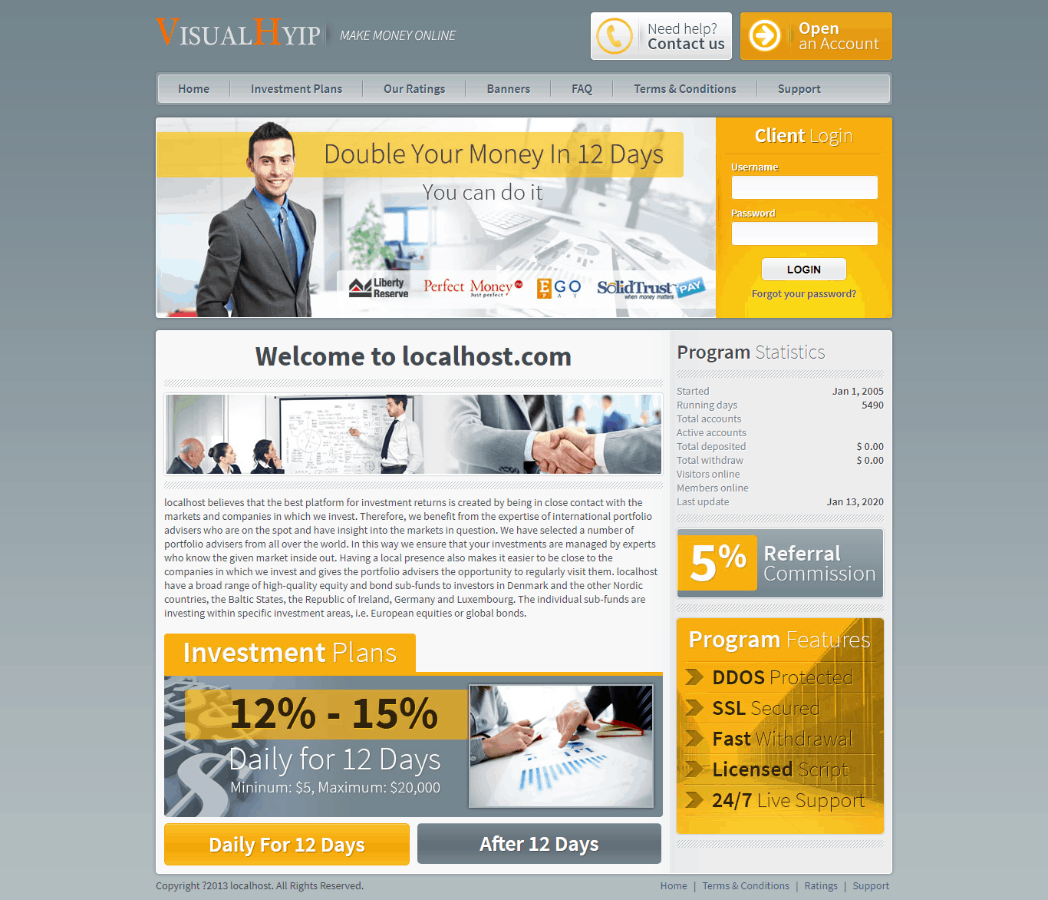 GoldCoders Hyip Template 28
