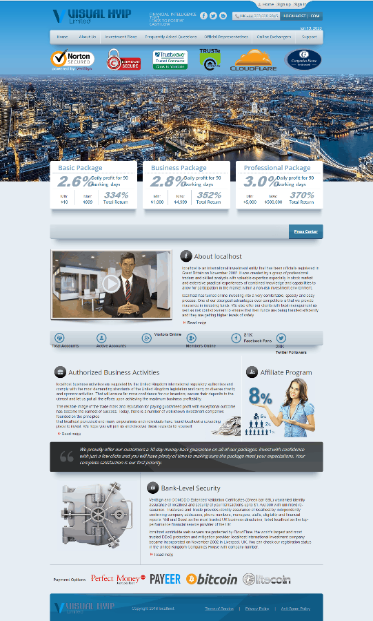 GoldCoders Hyip Template 30