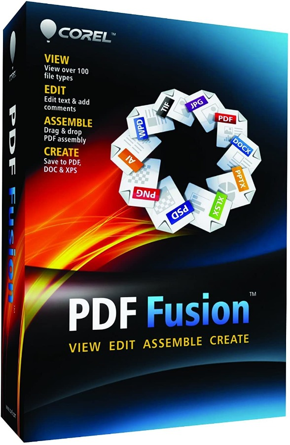 Corel PDF Fusion PDF Editor LifeTime License 3 PC