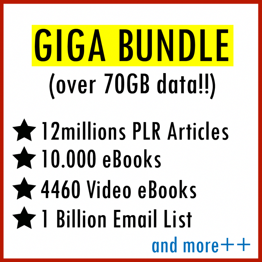 Giga Bundle (Over 70 Gb Data). 99% Off Price