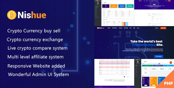 Nishue  – cryptocurrency exchange script