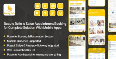 Beauty Belle booking in the salons of Android, iOS app.