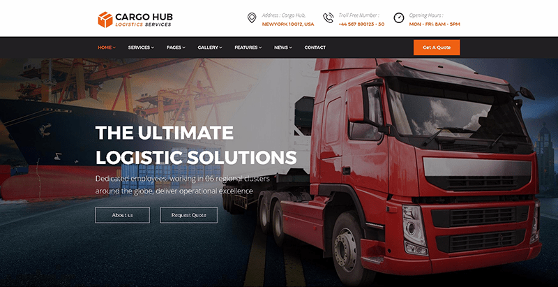 Cargo HUB -Transportation and Logistics WordPress Theme