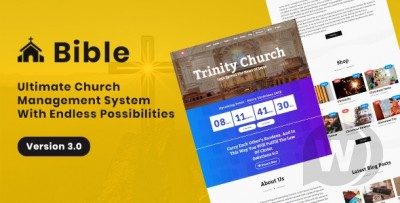 church management system with a store, donations