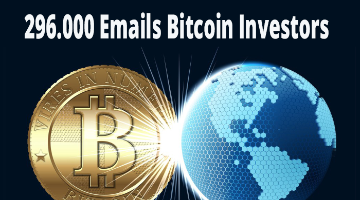 296.000 emails list of bitcoin users investors