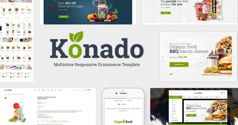Konado - Organic Theme for WooCommerce WordPress