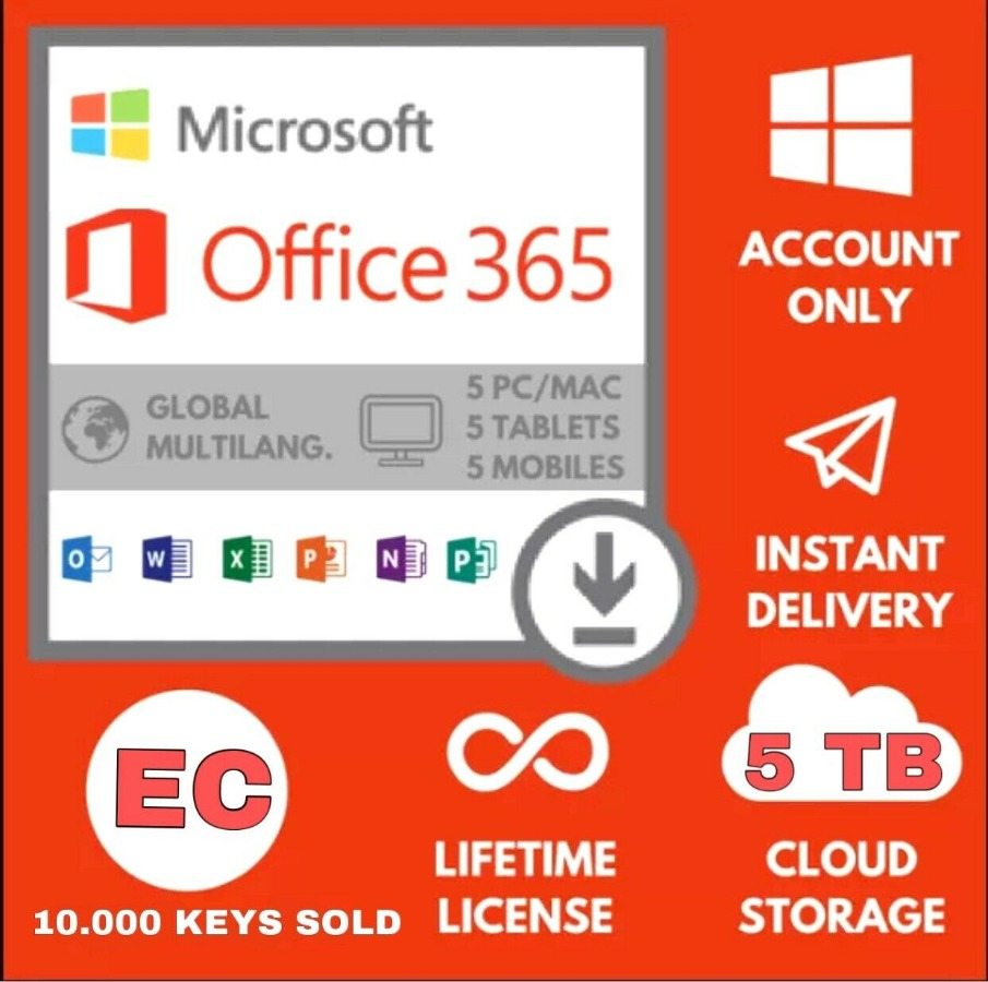 Office 365 Pro Plus Acc. 5 Device + 5 TB Cloud Lifetime