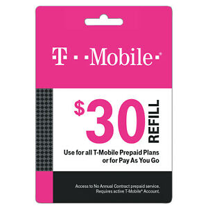 T-Mobile USA Prepaid Refill Card 30$
