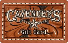 $100 cavender's gift card