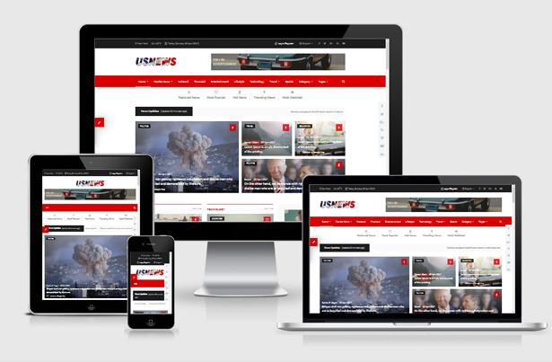 USNews | Multipurpose News, Magazine and Blog HTML5 Tem