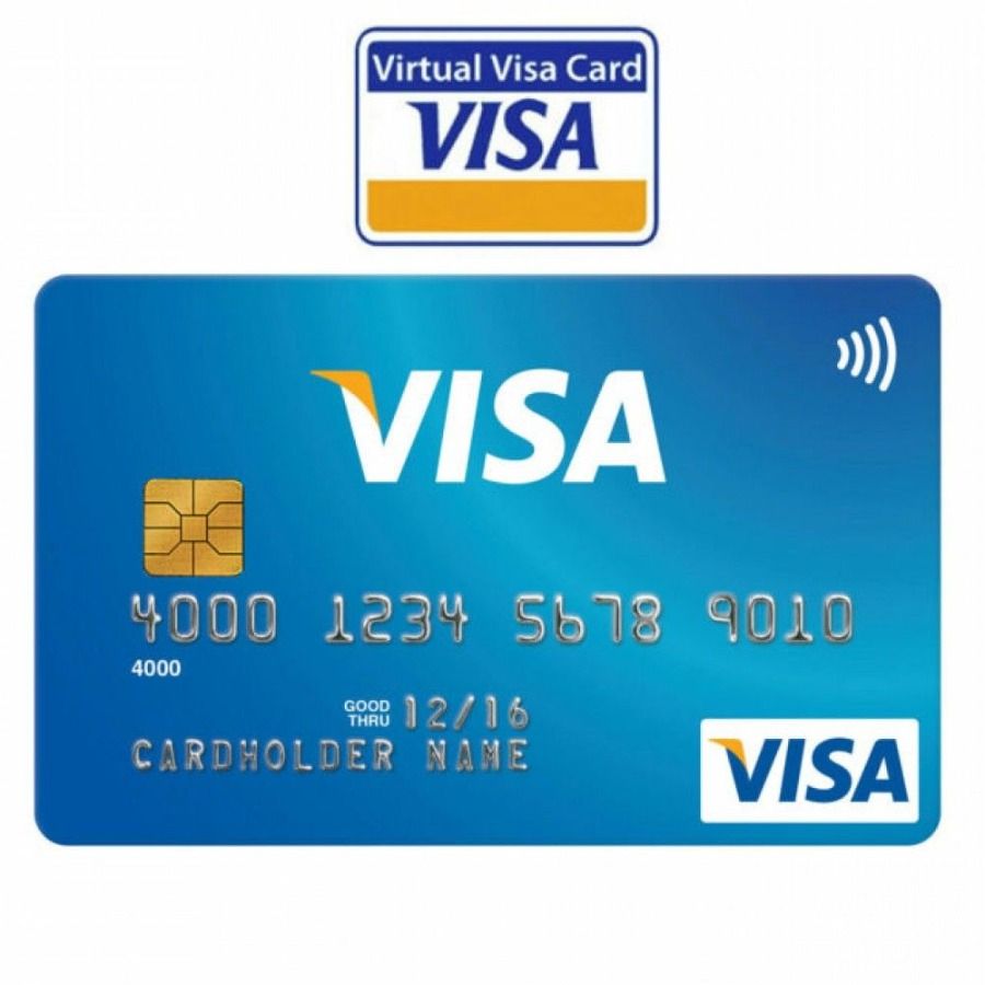 Virtual Credit Card $2 ∣ Worldwide ∣ VISA