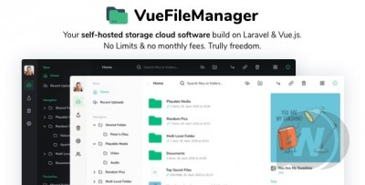 Vue File Manager with Laravel - Your Private Cloud