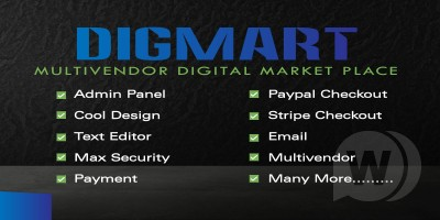 DigMart  Multivendor digital goods script