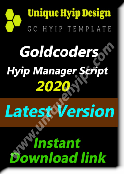 GOLD CODER / GC HYIP MANAGER SCRIPT 2020