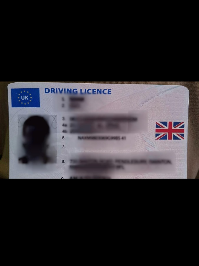 HQ UK Driver Lincense Front+Back Photo