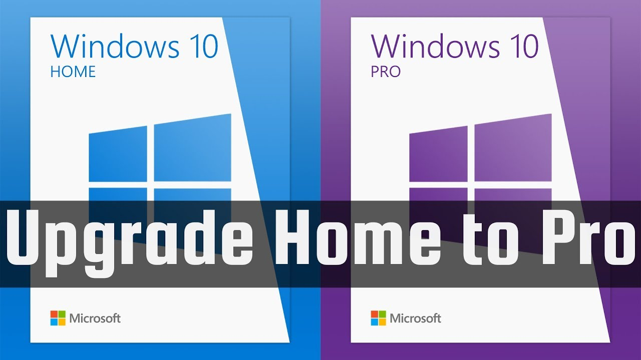 Windows 10 Home to Pro Upgrade Key