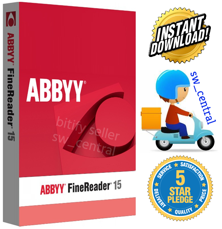 ABBYY FineReader v15 (5 PC Lifetime Licenses) Instant