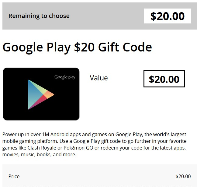 Google Play Gift Card 20$ (Australia)