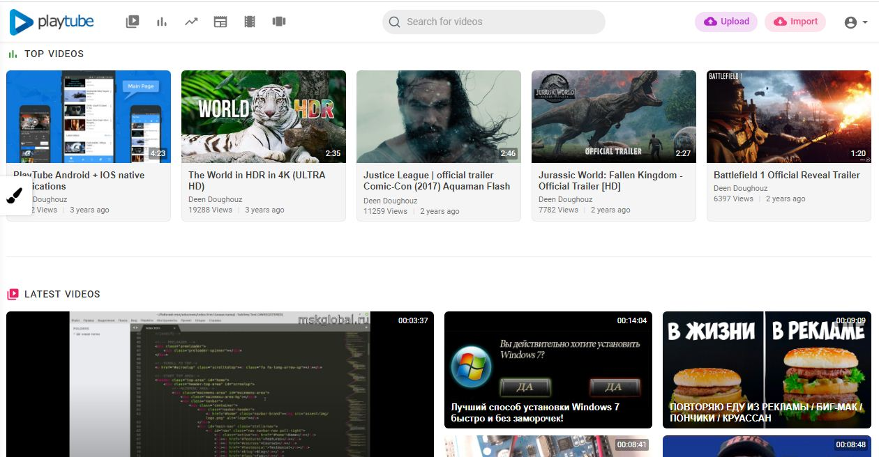 YOUTUBE SCRIPT | PHP Video CMS & Video Sharing P...