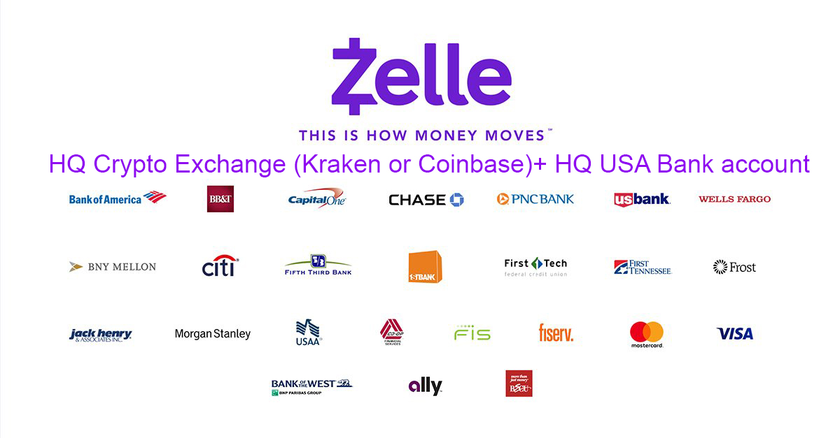 HQ Crypto Exchange (Kraken or CB)+ HQ USA Bank account